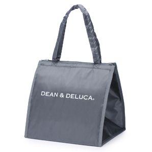 【オンラインストア限定】 DEAN & DELUCA クーラーバッグ グレーLLサイズは、三段重 大のサイズが余裕で入るサイズです。 マチが広いので、ピザなど大型のお惣菜やホールケーキなども入り、 持ち手が2本あるので安定して持ち運べます。