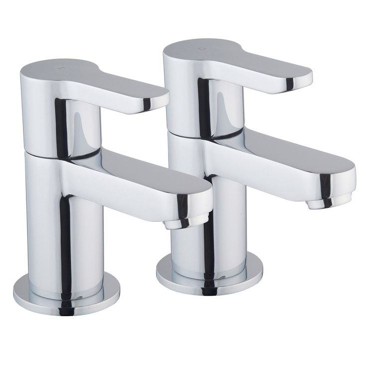 Cooke & Lewis Tahoe Chrome Hot & Cold Bath Pillar Tap, Pack of 2 | Departments | DIY at B&Q