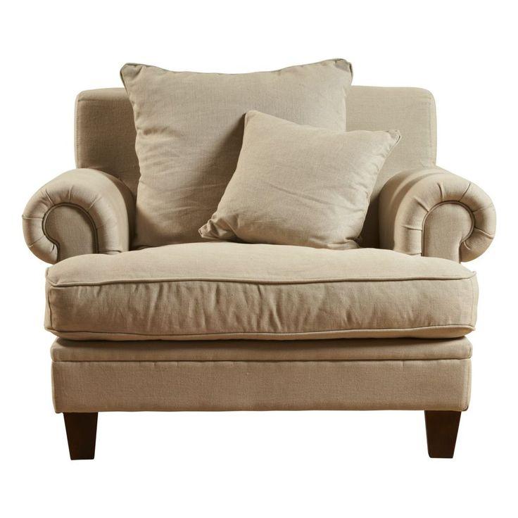 Laura Contemporary 1 Seater Oak Sofa Armchair Lounge Chair - Mocha