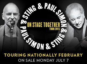 Paul Simon & Sting - Coming to Australia in February 2015