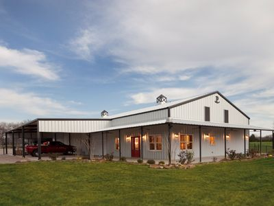 631 best pole barn homes images on pinterest metal for Metal barn homes texas