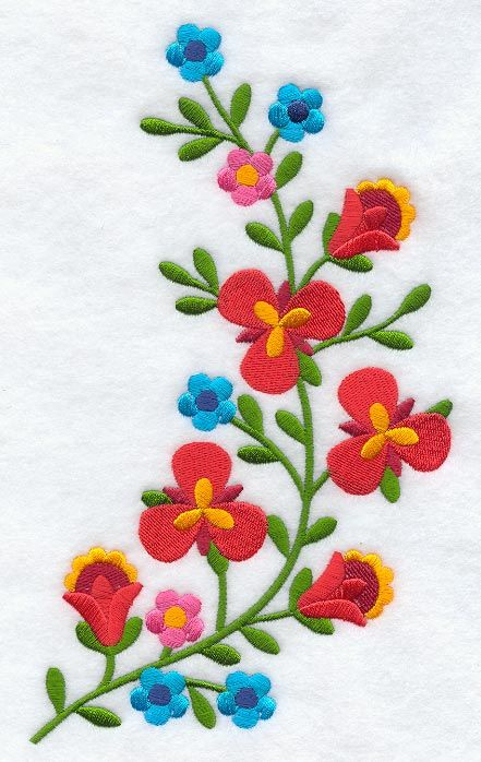 Machine Embroidery Designs at Embroidery Library! - Hungarian Floral Button Placket- Mirror