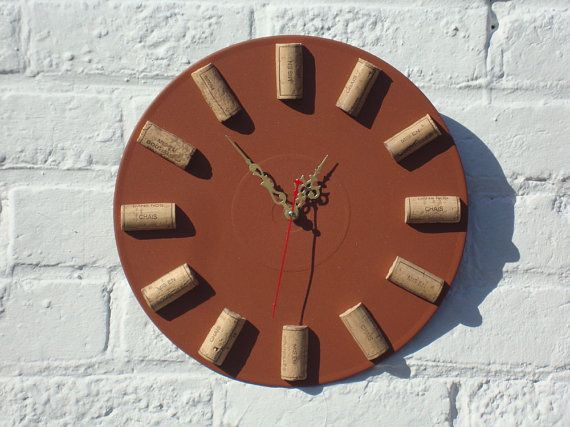 Wall clock Wine OClock modern wall clocks unique by OlgaArtShop, $55.00