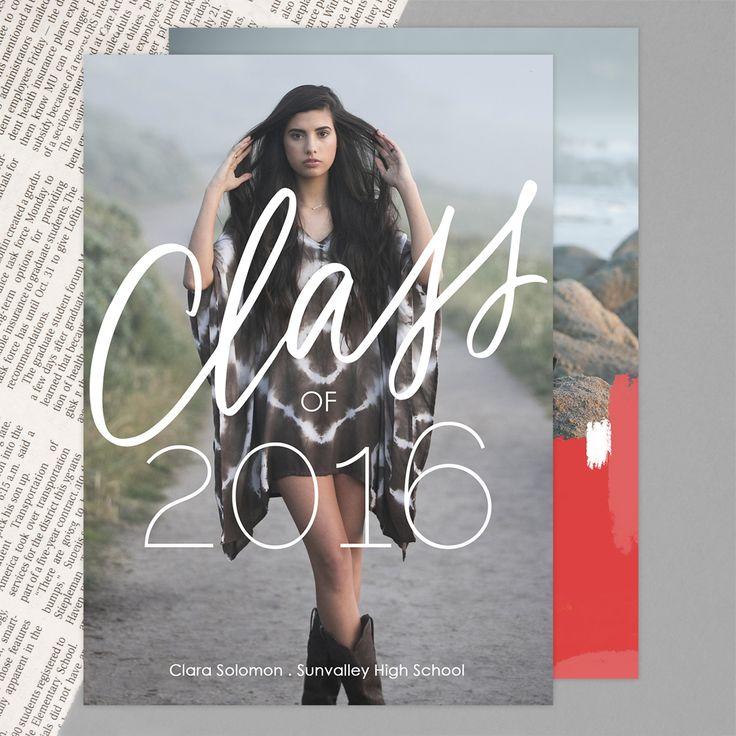 Pure Class   Graduation Announcement Cards by Mpix   Design by @brightroom   http://www.mpix.com/cards/graduation/graduation-announcements/pure-class