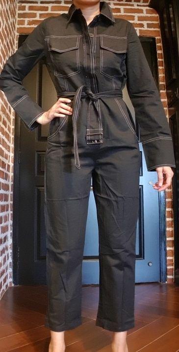 FQLWL Denim Jumpsuit Women Romper Long Sleeve Belt Black/White Winter Autumn Jeans Jumpsuit Female 2018 Streetwear Overalls