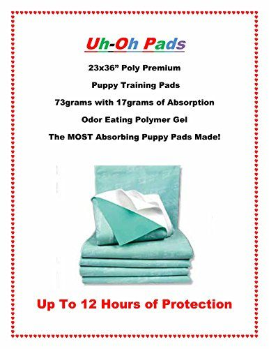 Premium ABSOROMAX Puppy Training Pads for Dogs up to 120lbs Last 12 Hours 23x3675ct * Click image to review more details.