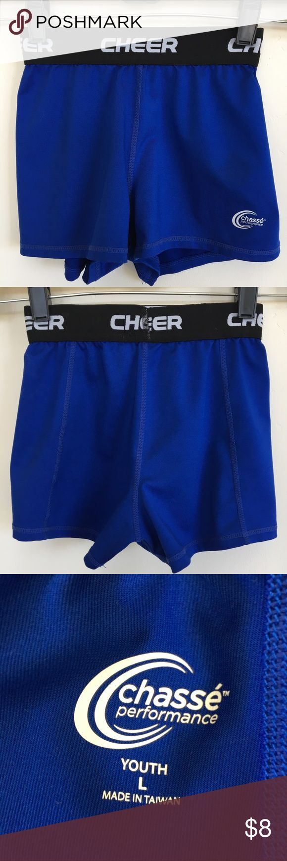 """Chase performance """"cheer"""" shorts. Girl's size (L). Chase performance """"cheer"""" shorts. Girl's size (L). Great condition. Chasse perfornance Bottoms Shorts"""