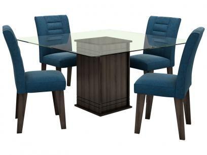 Conjunto de Mesa com 4 Cadeiras Vegas - Movale com as melhores condições você encontra no Magazine Siarra. Confira!