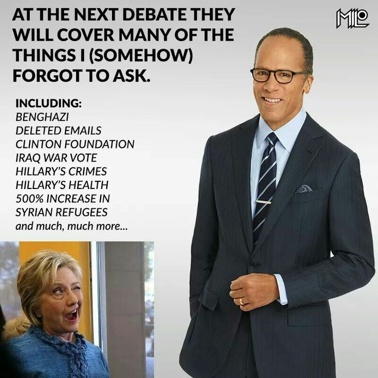 ... unless the next debates just become sequels to the first.  I seriously doubt that Clinton would even show up to a REAL,and UNBIASED debate, where she might be asked serious questions that matter?