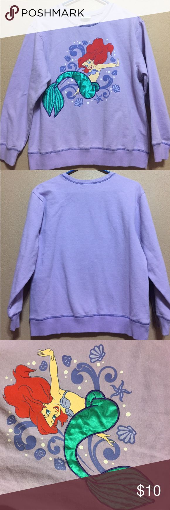 Little Mermaid Sweatshirt Preloved! Meaning Shows Sign Of Wear Looks To  Possibly Be Vintage