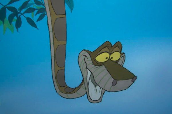 & kaa,  the snake  from the jungle book