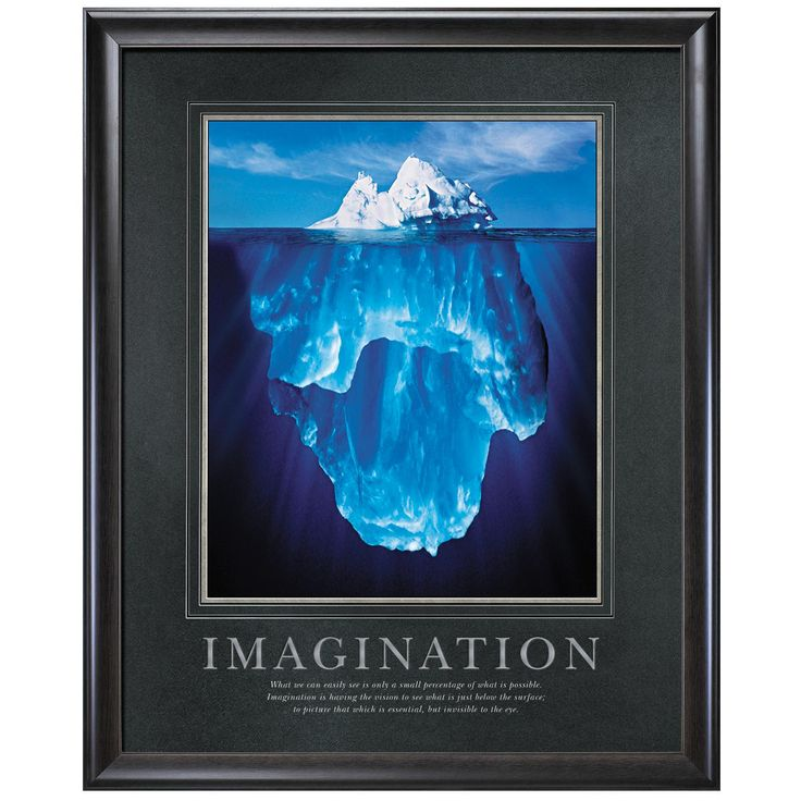 Classroom Quote Ideas ~ Imagination iceberg motivational poster classic