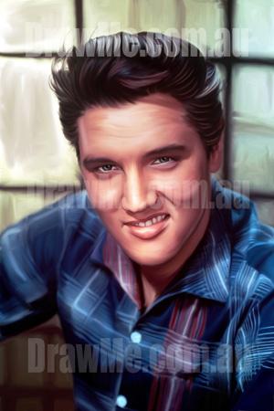 Elvis Presley portrait available from DrawMe.com.au