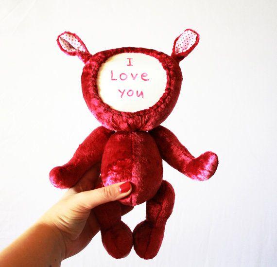 Creative Teddy Bear Original Gift Original by CreaturesPretenders, $97.00