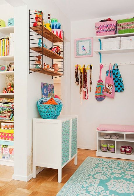 I like the idea of an organized area for shoes, coats, bags, etc near the door