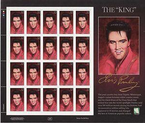 Elvis Presley Stamps | Details about ELVIS PRESLEY STAMP SHEET -- THE KING -- MARSHALL ...