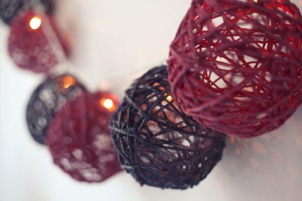 Самодельная гирлянда или шары на елку