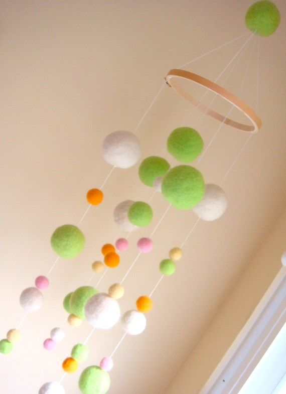 Needle Felted Gumball Mobile