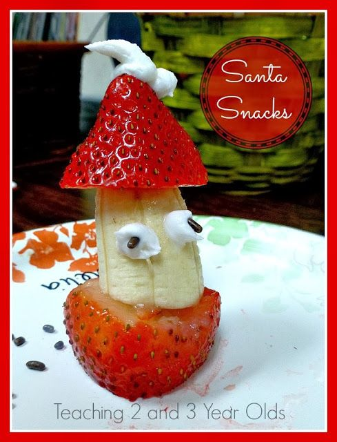 Teaching 2 and 3 Year Olds: Preschool Cooking Activity - Santa Snacks