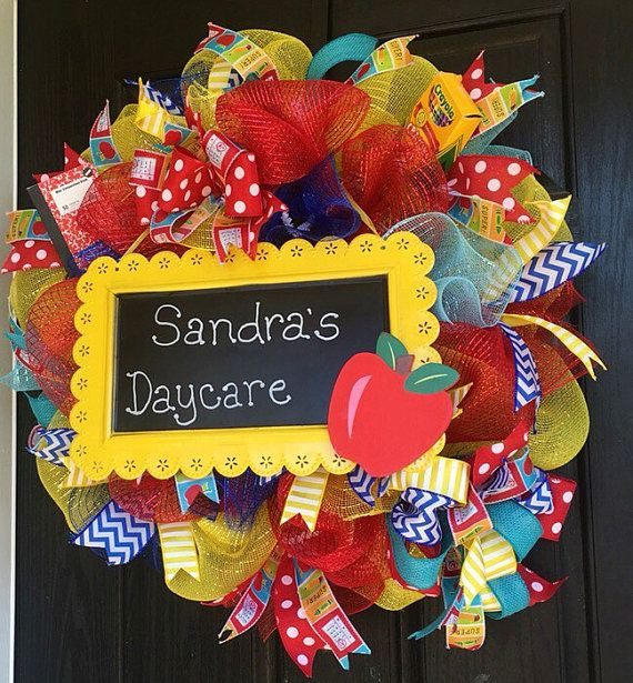 Classroom Wreath Ideas ~ Unique teacher wreaths ideas on pinterest crayon