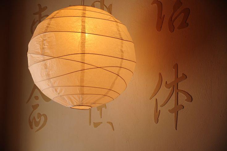 Cómo hacer una lámpara china redonda