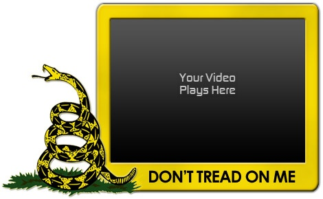 "Custom ""Don't Tread on Me"" Video Skin from VideoSkinAdvantage.com"