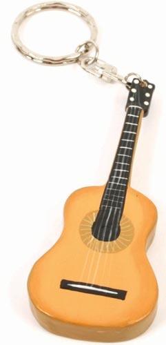 Wooden guitar keyring, handmade by Fairtrade artisans in Bali, Indonesia.  #Fairtrade #Guitar #Bali #Indonesia #Keyring