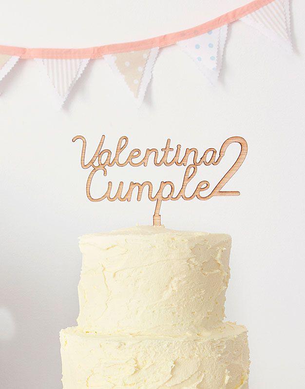 Nombre Cumple Edad Fiesta Cumpleanos Pinterest - Adornos-tarta