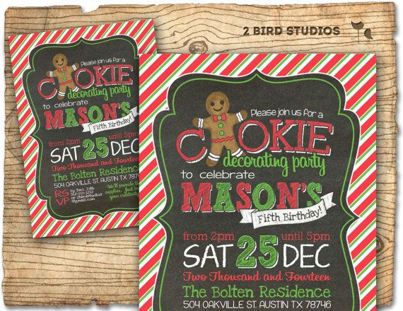 44 best images about Christmas Cookie Decorating Party on – Cookie Decorating Party Invitations