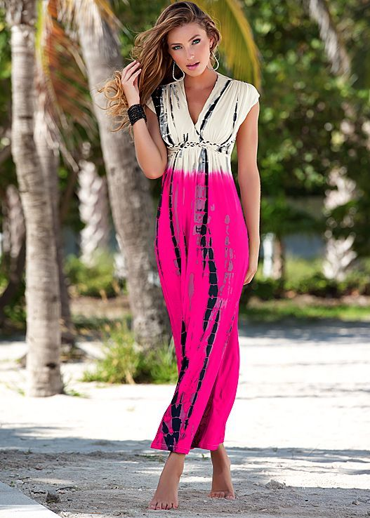 Chilly nights on the beach always lead to extra snuggle time on Valentine's...Venus tie dye maxi dress. #styleaffair