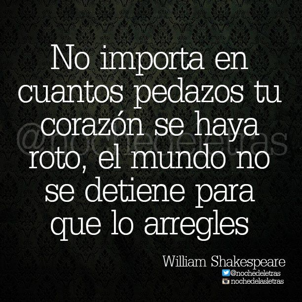 No importa... William Shakespeare