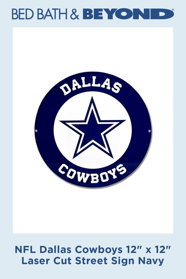 "Dallas Cowboys Metal Vanity License Plate Tag Cover 12/"" x 6/"" Football Team"