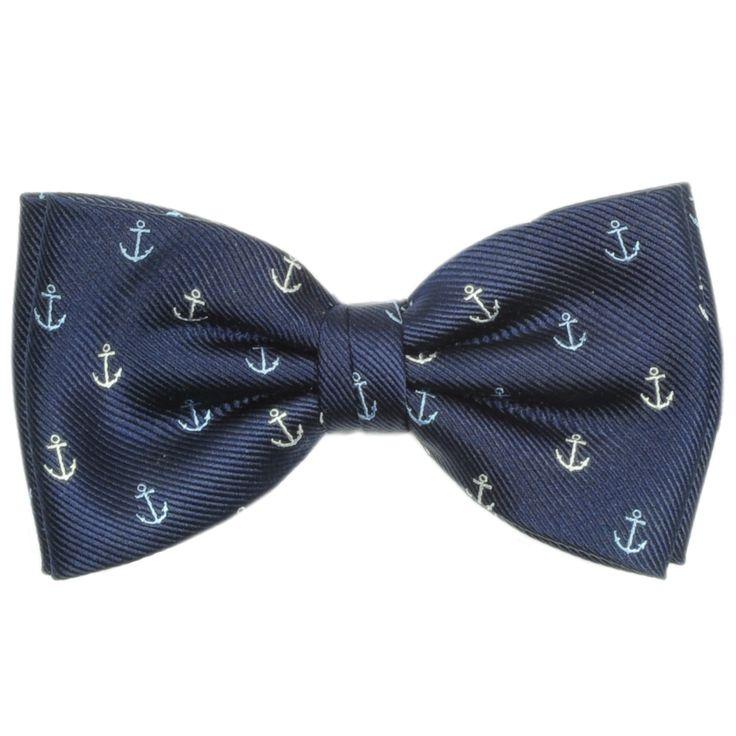 More anchors than Popeye.:  Bowties, Bow Ties, Nautical Wedding Groomsmen, Anchors Men, Nautical Groomsmen, Hair Bows, Anchors Bows Ties, Bowties Navy,  Bow-Tie