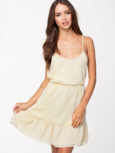 Hvide Cilla Jeane Blush kjoler - ModeJagten