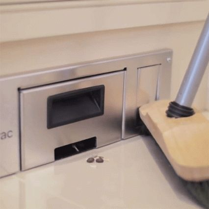 This Below Cabinet Kitchen Vacuum Makes It Remarkably Easy To Keep Your  Kitchen Floors Immaculate. The Vacuum Installs Discreetly Under Your  Kitchen Cabinet ...