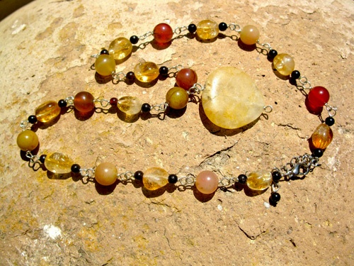 Citrine necklace - The gift of success . . a jewellery present with real significance