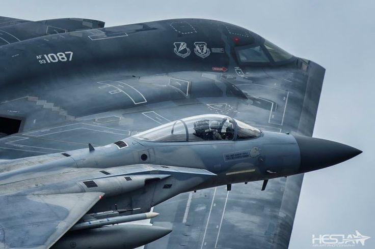 B-2 , With Escort, sea of japan .
