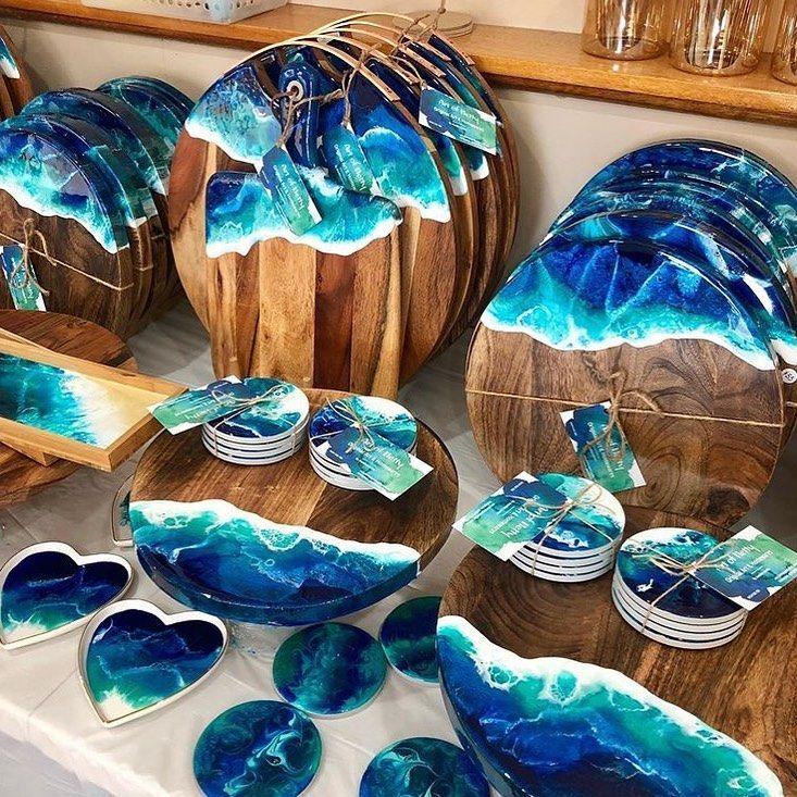 Arte Com Resina Oceanica Arte Com Resina Artesanato Joias De Madeira E Resina