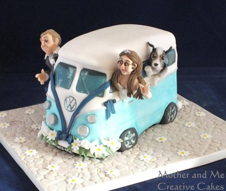 VW van Wedding Cake...........my eldest son would soooooooooo love this!!!!!!!!
