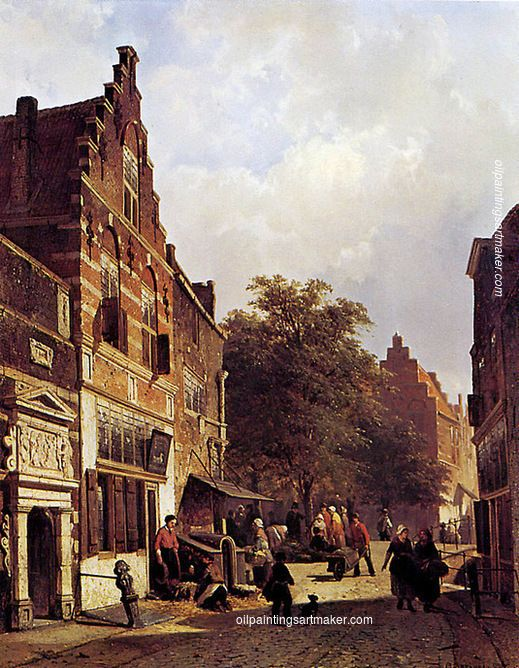 Cornelis Springer Street view painting online, painting Authorized official website