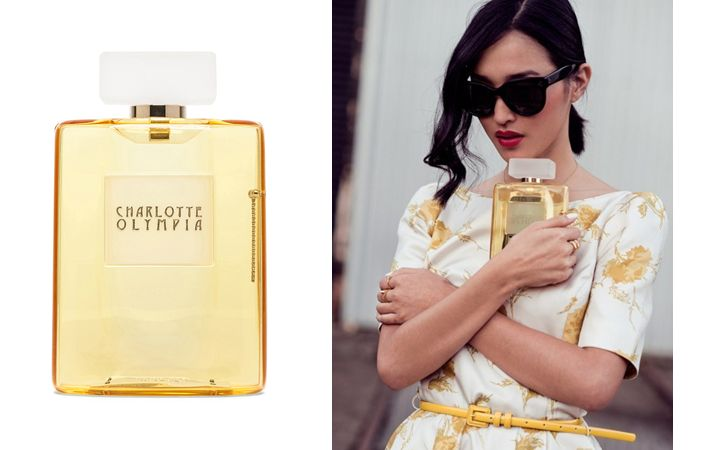 Charlotte Olympia Perfume Bottle Clutch - Ordinary Is Not The Name Of My Game