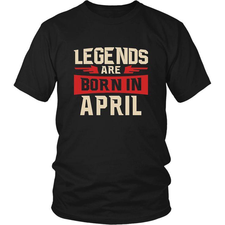 Legends Are Born In April Native