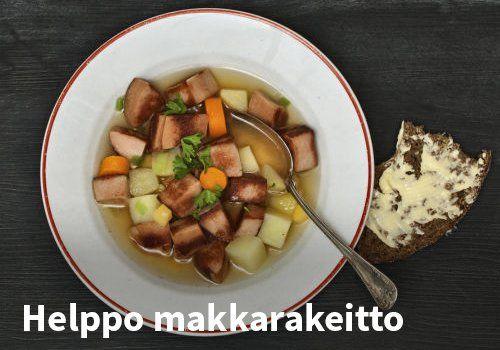 Helppo makkarakeitto Resepti: Hookoo.fi #kauppahalli24 #ruoka #resepti #makkarakeitto