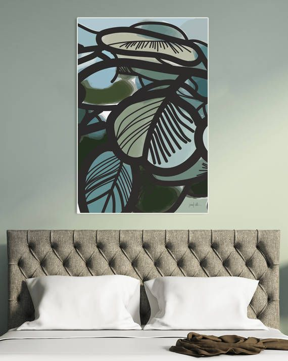 """Leaf printable wall art Leaves print Eucalyptus wall art large USE THE CODE """"HUNKYDORY"""" TO RECEIVE 30% OFF!"""