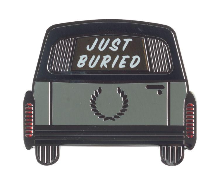 CREEPY CO. JUST BURIED ENAMEL PIN