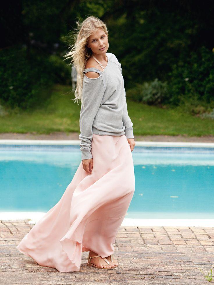 Deze rok wil ik zelf maken voor de zomer. Mooie stijl.