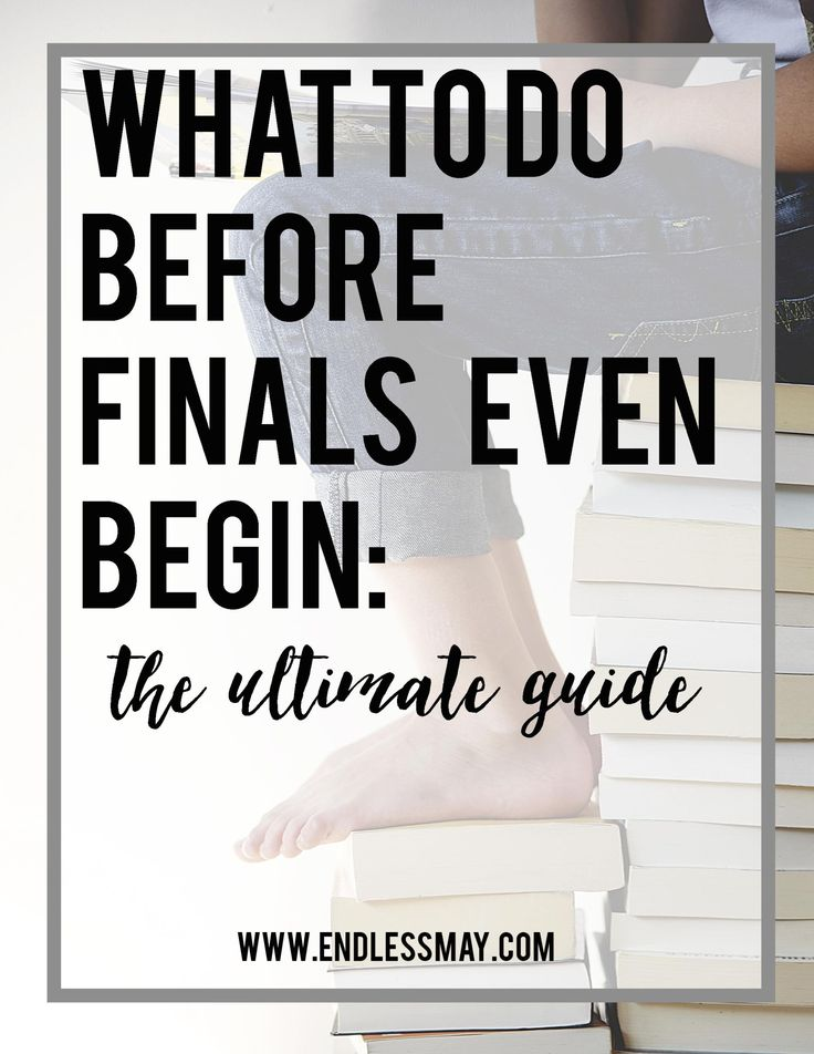 Dreading finals? Here are some great tips on what to do before they even begin. Pin now when you need some help navigating the end of the semester!