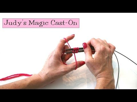 ▶ Knitting Help - Judy's Magic Cast-On - YouTube  Chinese Dragon MKAL Tricks  It can't bee this easy