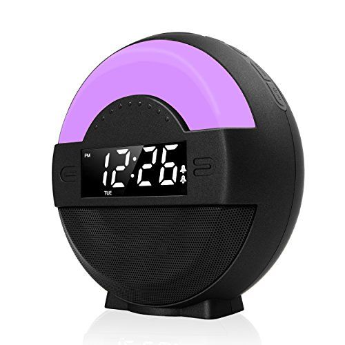 Galahome FM Radio Dual Alarm Clock Loud Alarm for Heavy Sleepers Bluetooth Speaker USB Charging Port Snooze & Dimmable Night Light for Kids Battery Backup Moonlight Alarm Clock for Bedroom