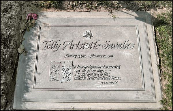 "TELLY SAVALAS' GRAVE (""Kojak"") at Forest Lawn Hollywood Hills in Los Angeles, California"